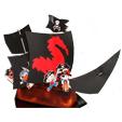 pirates sur leur bateau pirate