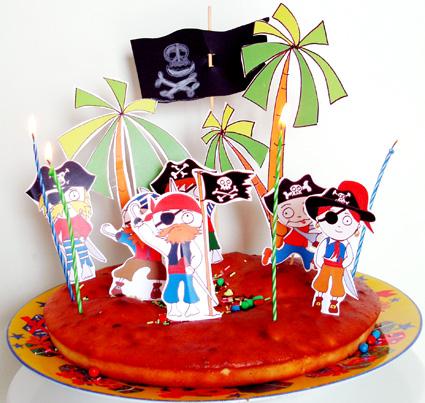 G teau aux pirates des cara bes - Decoration pirate des caraibes ...