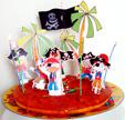 Décoration Gâteau pirate