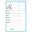 carte d'identité lettre A