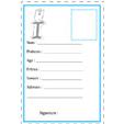 carte d'identité lettre I