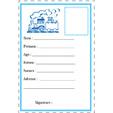 Carte d'identité bleue