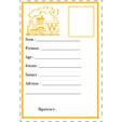 carte d'identité lettre W