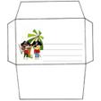 Imprimer l'enveloppe d'anniversaire des deux pirates