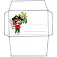 Imprimer l'enveloppe d'anniversaire pirate au bandeau