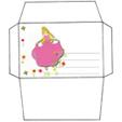 Imprimer l'enveloppe d'anniversaire de princesse modèle rose 1
