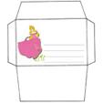 Imprimer l'enveloppe d'anniversaire de princesse modèle rose 2