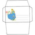 Imprimer l'enveloppe d'anniversaire de princesse modèle bleu 1