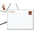 Lettre au père noel enveloppe timbre Père Noël