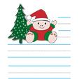 Papier à lettre au Père Noël au bonhomme