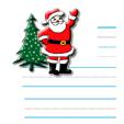 Papier à lettre au Père Noël motif grand père noël
