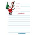 Modèle de lettre avec Père Noël