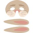 masque de lapin à imprimer