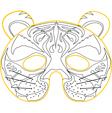 masque de tigre a colorier