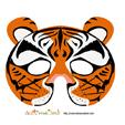 masque de tigre à imprimer
