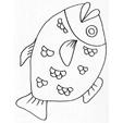 coloriages et dessins de poissons