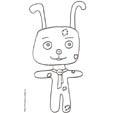 Coloriage du lapin dessin 3