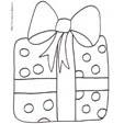 Imprimer le coloriage d'un gros cadeau au papier à pastilles