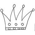 Imprimer le coloriage d'une grosse couronne à 4 pointes