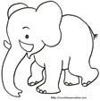 Coloriage d'un éléphanteau à imprimer
