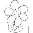 Imprimer le coloriage d'une grosse fleur