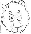 Imprimer le coloriage d'une grosse tête de lion