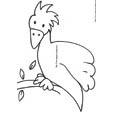 Imprimer le coloriage d'un gros oiseau
