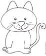 Imprimer le coloriage du chat tout mignon