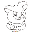 coloriage hamster 13
