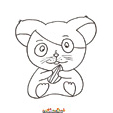 coloriage hamster 14