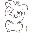 coloriage hamster 15