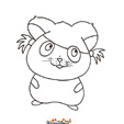 coloriage hamster 17