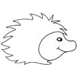 Imprimer le dessin d'un hérisson