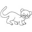 Coloriage d'un lionceau