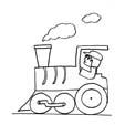 Coloriage d'une locomotive de train