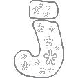 Coloriage de la lettre j