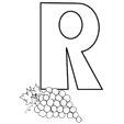 Coloriage de la lettre r et le raisin