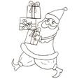Coloriages du Père Noël