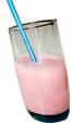 Milk-shake à la glace fraise