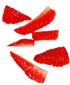 fraises coupées