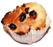 Muffin raisin noisette