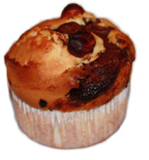 Muffin nutella noisette