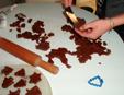 poser les sablés au chocolat sur la feuille