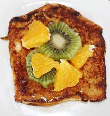 Pain perdu orange kiwi
