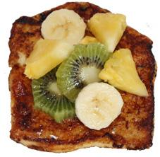 Pain perdu fruits tropicaux