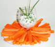 Bâtonnets de carotte et sa sauce