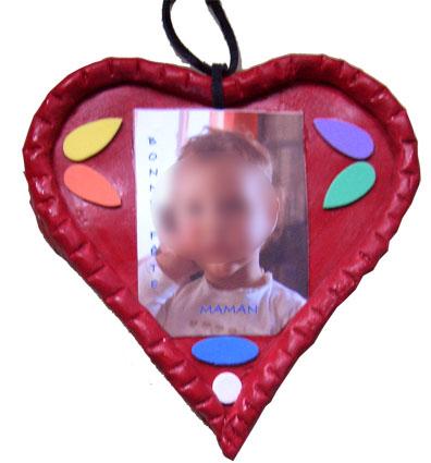 Coeur porte photo à offir en cadeau
