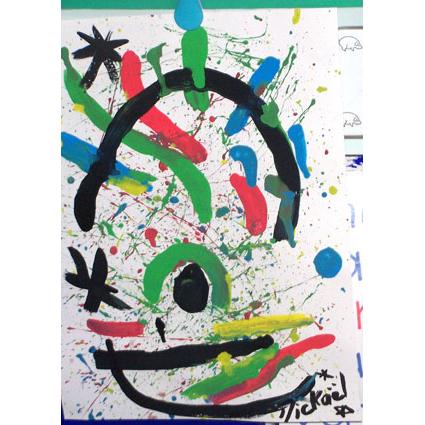 Tableau comme Joan Miro