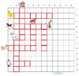 Imprimer la grille de mots croisés animaux de la ferme grille 3 pour cycle 2