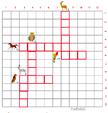 Imprimer la grille de mots croisés animaux grille 5 pour cycle 2